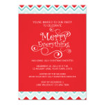 MERRY EVERYTHING CHRISTMAS PARTY INVITATION