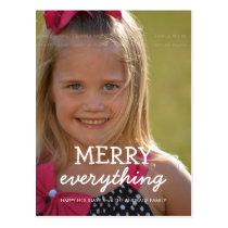 Merry Everything Christmas Photo Holiday Greetings Postcard