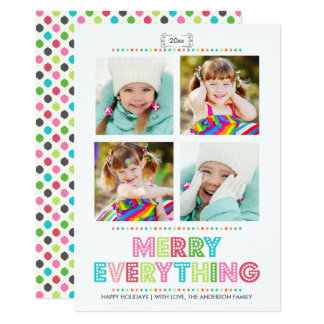 Merry Everything Collage Photo Holidays Card