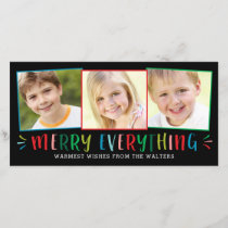 Merry Everything Editable Background Holiday Card