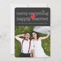 Merry Everything From The Happily Married Photo Holiday Card