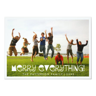Merry Everything Fun Holiday Greeting Photo Card