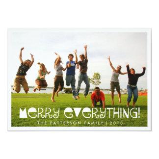 Merry Everything Fun Holiday Greeting Photo Card Custom Invitation