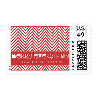 Merry Everything Fun Holiday Personalized Stamp
