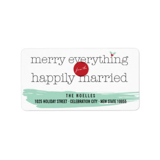 Merry Everything Happily Married Holiday Labels