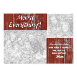 Merry Everything Holiday Greeting Rustic 2 Photos Custom Invite