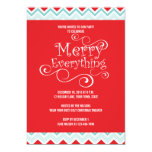 MERRY EVERYTHING HOLIDAY PARTY INVITATION