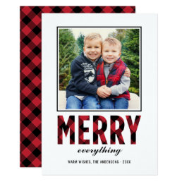 Merry Everything | Holiday Photo Card