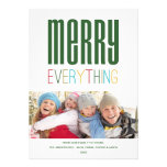 MERRY EVERYTHING | HOLIDAY PHOTO CARD ANNOUNCEMENT