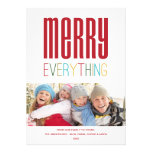 MERRY EVERYTHING | HOLIDAY PHOTO CARD PERSONALIZED INVITATION