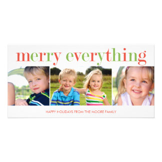 Merry Everything Holiday Photo Card Photo Greeting Card