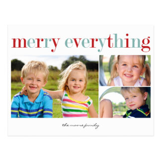 Merry Everything Holiday Photo Card Postcard