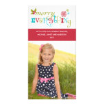 Merry Everything - Multi Cultural Holiday Customized Photo Card