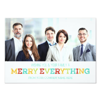 Merry Everything Photo Card Business