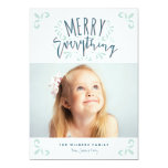 Merry Everything Trendy Photo Greeting 5x7 Paper Invitation Card