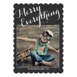 Merry Everything Vintage Christmas Photo Card Custom Invites