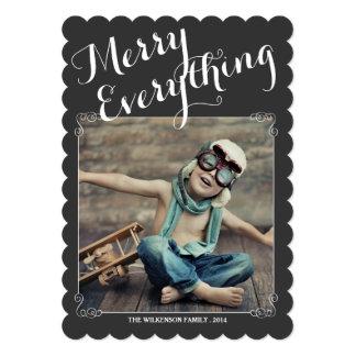 "Merry Everything Vintage Christmas Photo Card 5"" X 7"" Invitation Card"