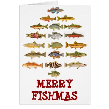 Christmas Themed Merry Fishmas Card