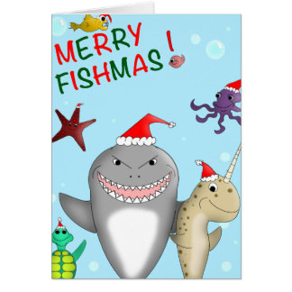 Merry Fishmas Christmas Card