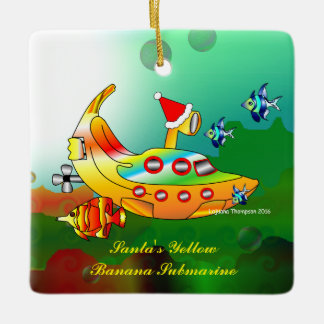 Merry Fishmas Christmas Ceramic Ornament