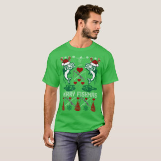 Merry Fishmas Fishing Christmas Ugly Sweater Shirt
