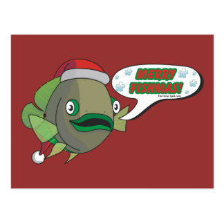 Merry Fishmas! from Oliver Postcard