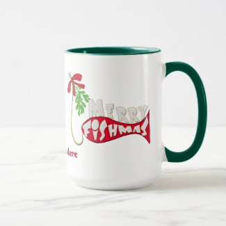 Merry Fishmas Funny Fishing Christmas Mug