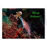 Merry Fishmas Hawkfish Greeting Card