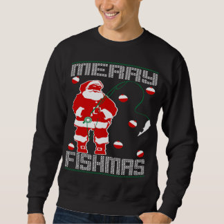 Merry Fishmas Santa Sweatshirt