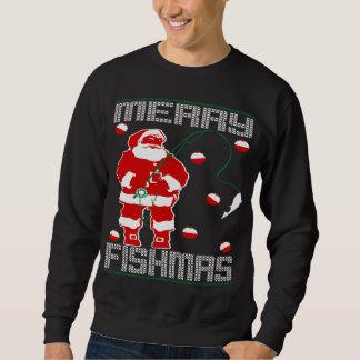 Merry Fishmas Santa Sweatshirt