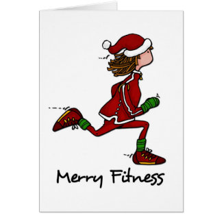 merry fitness greeting card