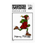 merry fitness postage stamps