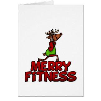 Merry Fitness - Yoga Reindeer Half Warrior Posture Card