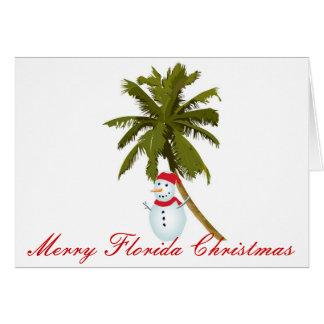 Merry Florida Christmas Greeting Card