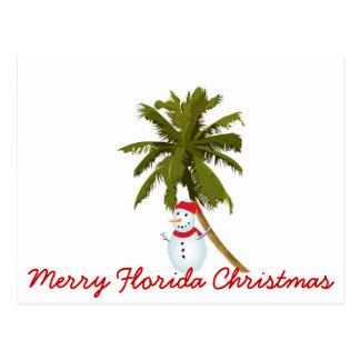 Merry Florida Christmas Postcard