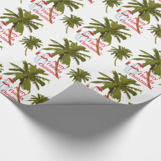 Merry Florida Christmas, snowman, gift wrap. Wrapping Paper