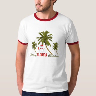 Merry Florida Christmas, snowman under palms T-Shirt