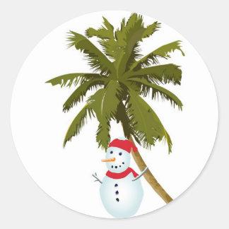 Merry Florida Christmas Round Sticker
