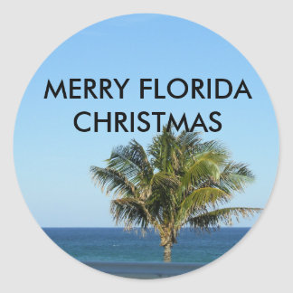 MERRY FLORIDA CHRISTMAS STICKERS