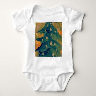 Merry Folk Art Christmas Tree Holiday Decor Infant Creeper