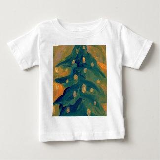Merry Folk Art Christmas Tree Holiday Decor Infant T-shirt