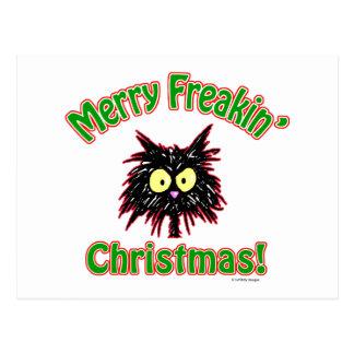 Merry Freakin' Christmas Postcard