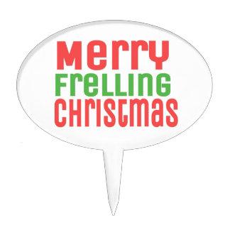 Merry Frelling Christmas! Cake Picks