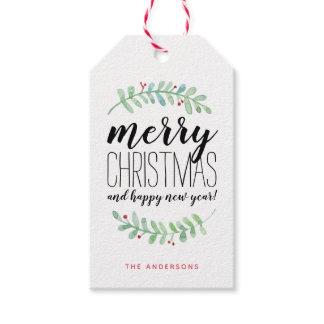 Merry Garland Holiday Gift Tag