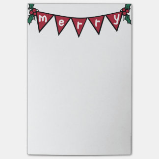 Merry garland Post-it note pad