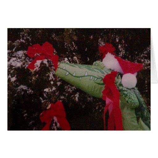 Merry Gator Christmas Greeting Card