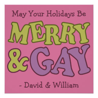 Merry & Gay custom poster