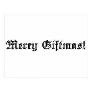 Merry Giftmas! Postcard