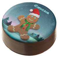 Merry Gingerbread Man Chocolate Dipped Oreo