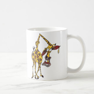 merry giraffe with earring and gold tooth classic white coffee mug